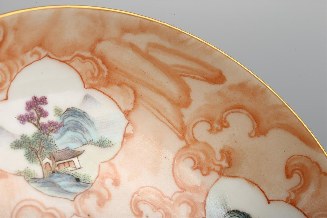 PAIR OF CHINESE FAMILLE ROSE PORCELAIN DISHES - 6