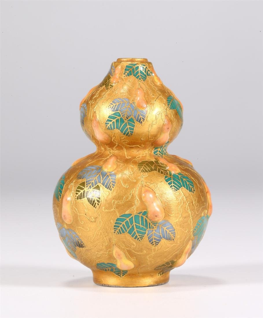 CHINESE PORCELAIN DOUBLE GOURD SNUFF BOTTLE