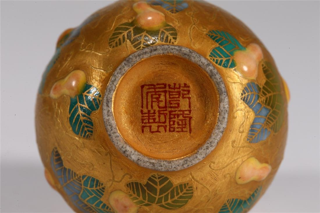 CHINESE PORCELAIN DOUBLE GOURD SNUFF BOTTLE - 6