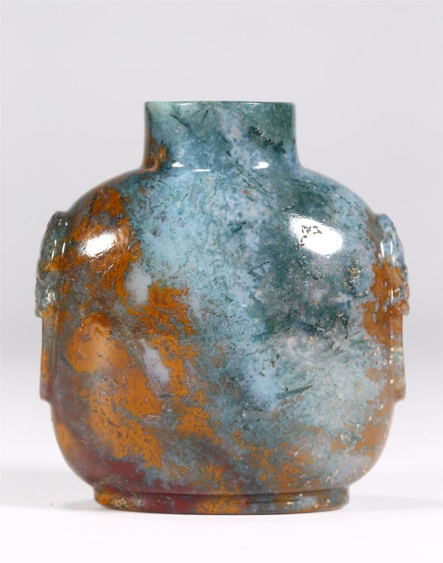 CHINESE AGATE SNUFF BOTTLE - 3