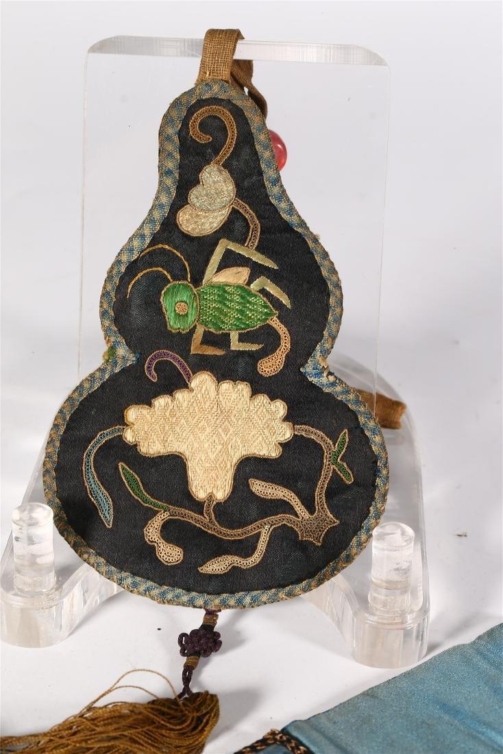GROUP OF CHINESE SILK ITEMS - 10