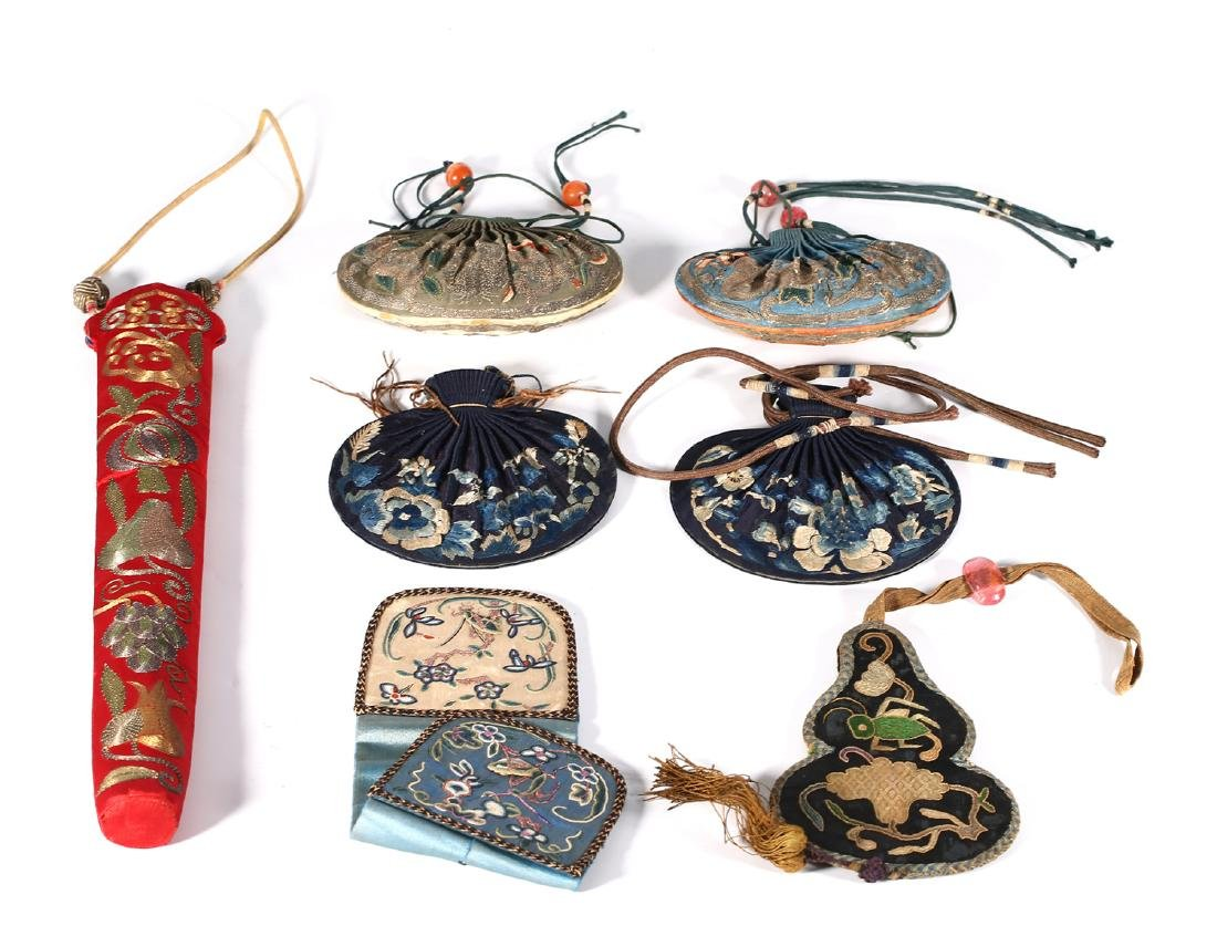 GROUP OF CHINESE SILK ITEMS