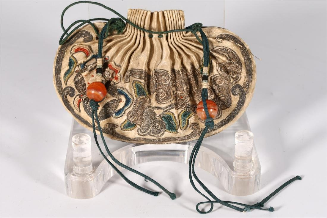 GROUP OF CHINESE SILK ITEMS - 3