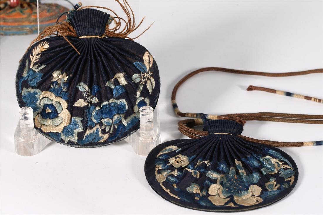 GROUP OF CHINESE SILK ITEMS - 6