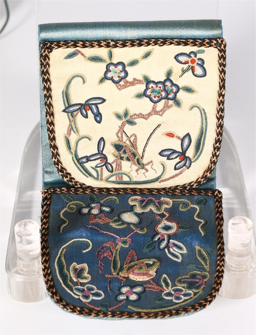 GROUP OF CHINESE SILK ITEMS - 8