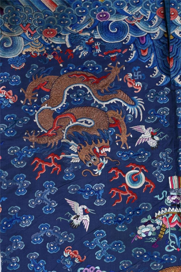 CHINESE EMBROIDERED SILK DRAGON ROBE - 7