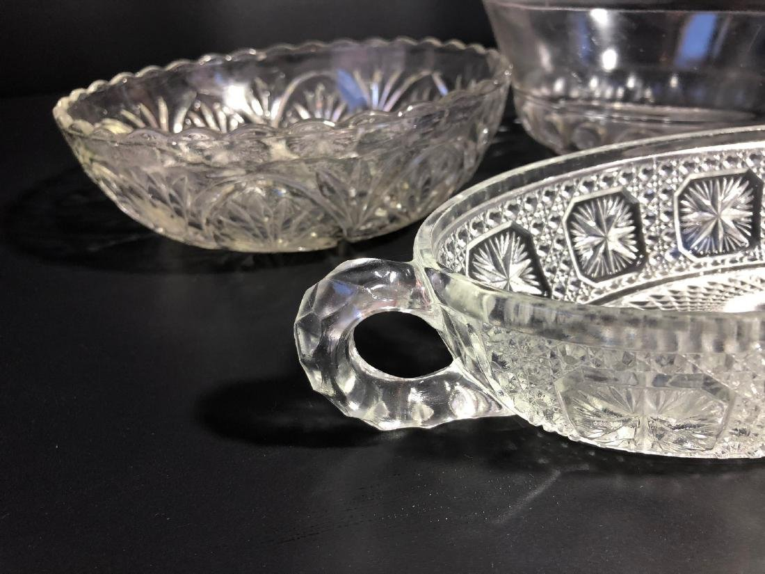 THREE CRYSTAL GLASS DISHES - 2