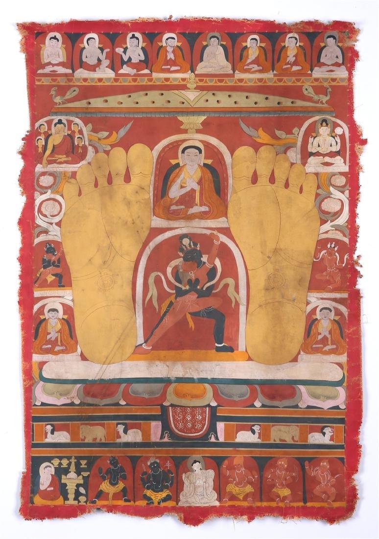 TIBETAN THANGKA OF CHAKRASAMVARA-VAJRAVARAHI