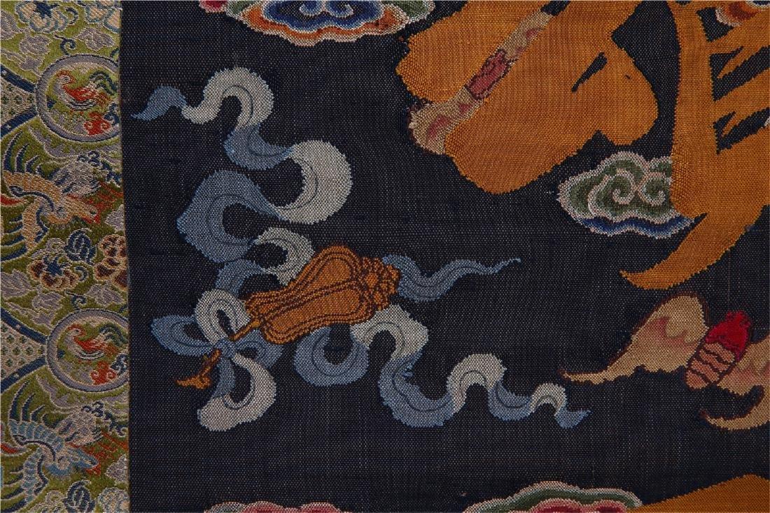 CHINESE SILK KESI CALLIGRAPHY COUPLET - 5