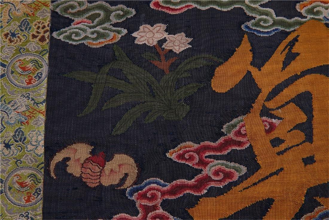 CHINESE SILK KESI CALLIGRAPHY COUPLET - 6