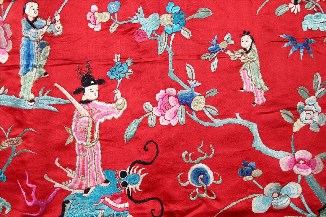 CHINESE EMBROIDERED SILK PANEL - 5