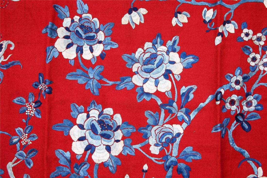 CHINESE EMBROIDERED SILK PANEL - 2