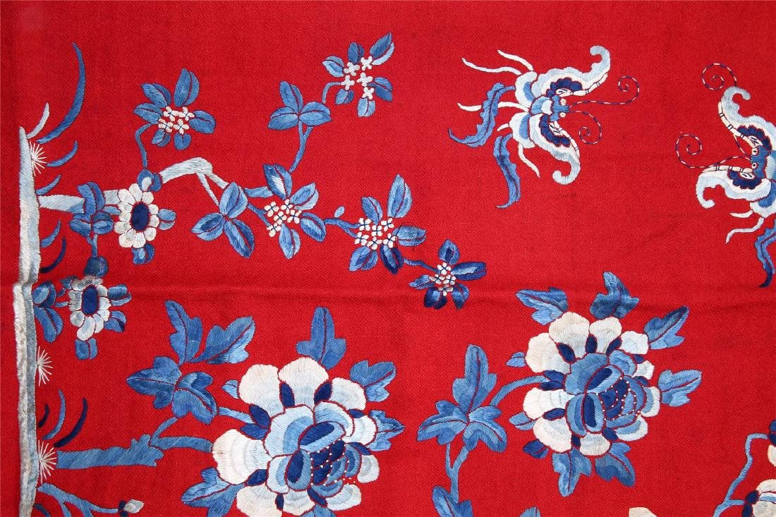 CHINESE EMBROIDERED SILK PANEL - 3