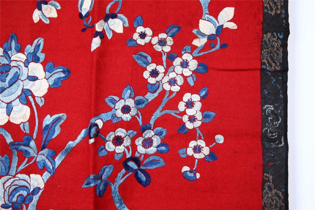 CHINESE EMBROIDERED SILK PANEL - 4
