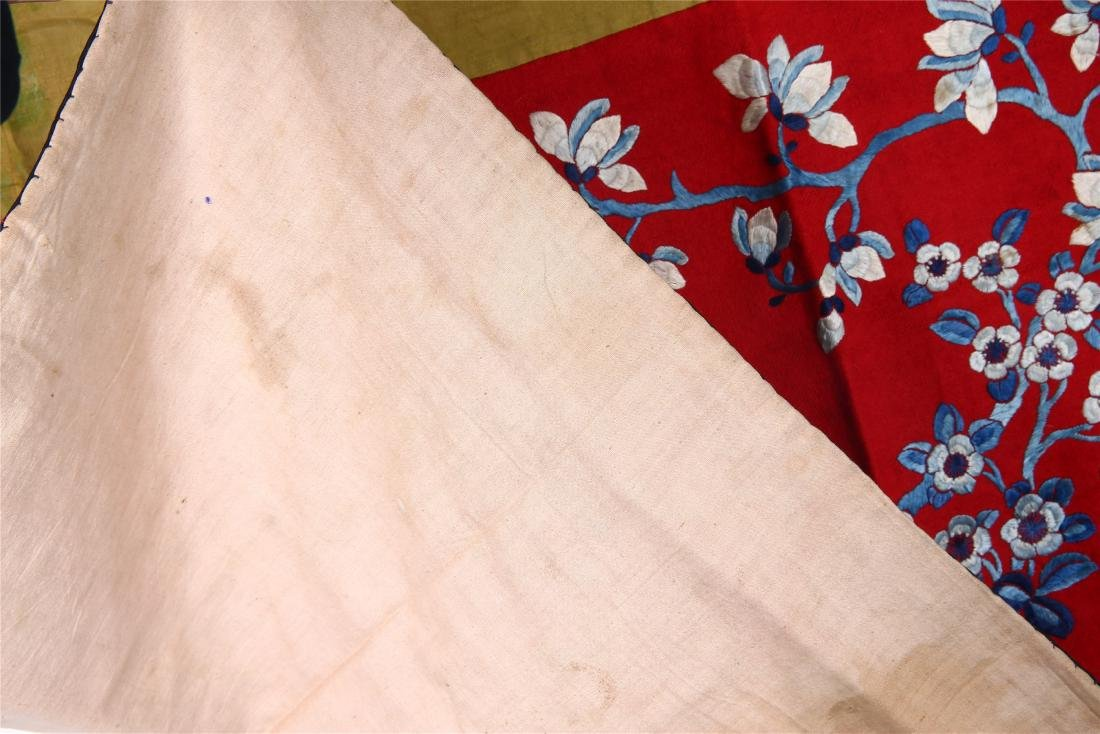 CHINESE EMBROIDERED SILK PANEL - 6