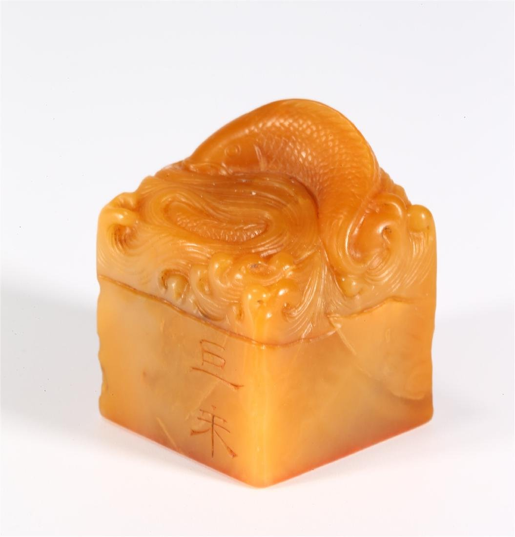 "CHINESE SOAPSTONE ""FISH"" SEAL"