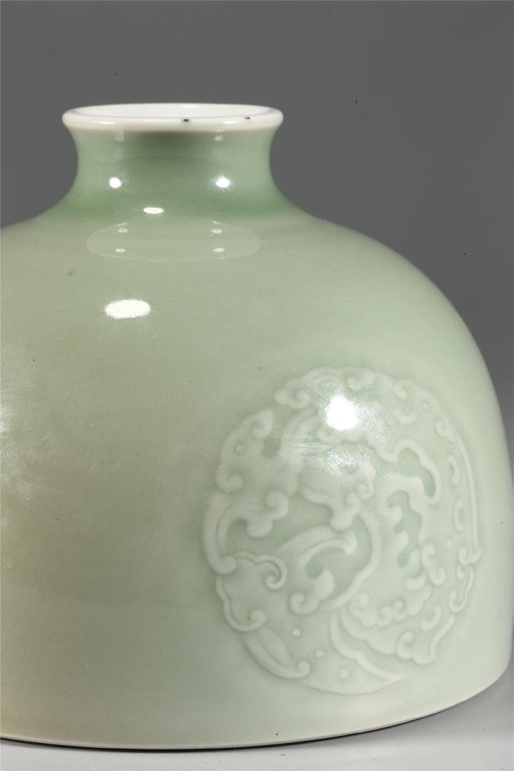 CHINESE CELADON GLAZED PORCELAIN WATER POT - 4