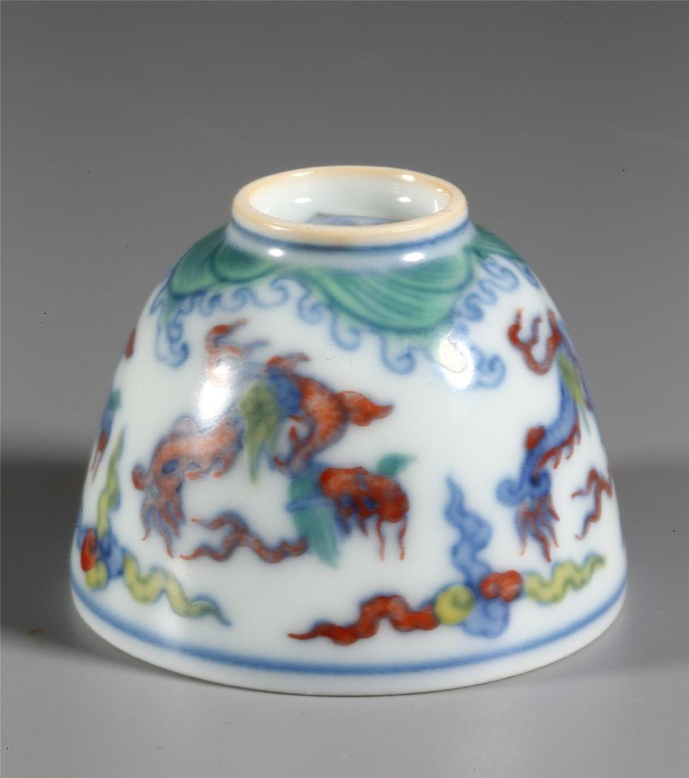 CHINESE WUCAI PORCELAIN CUP - 10