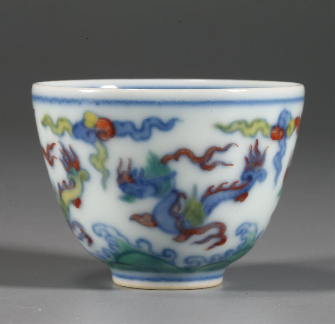 CHINESE WUCAI PORCELAIN CUP