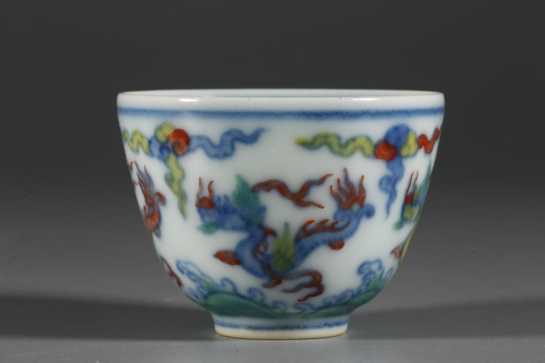CHINESE WUCAI PORCELAIN CUP - 3
