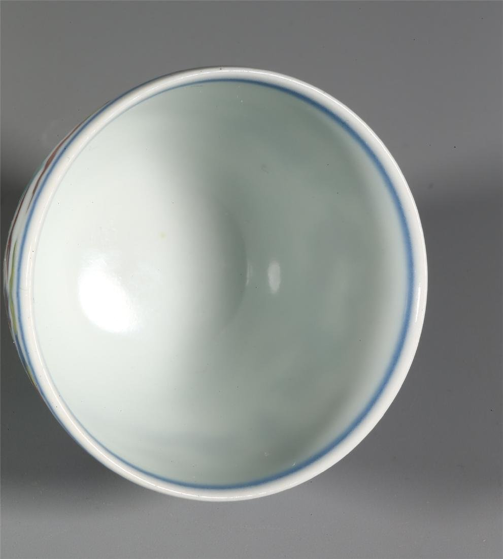 CHINESE WUCAI PORCELAIN CUP - 7