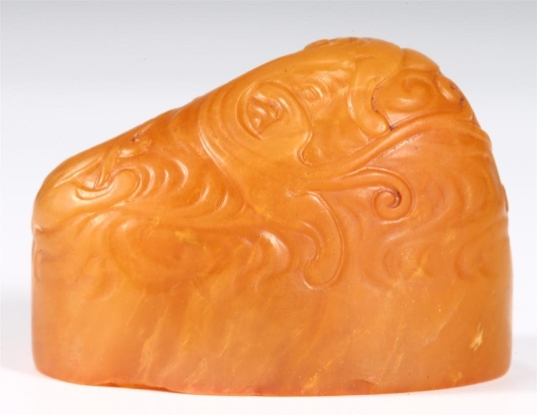 """CHINESE SOAPSTONE """"DRAGON"""" SEAL - 4"""
