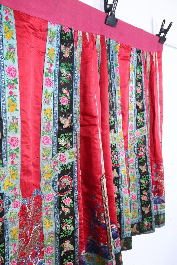 CHINESE EMBROIDERED SILK SKIRT - 5