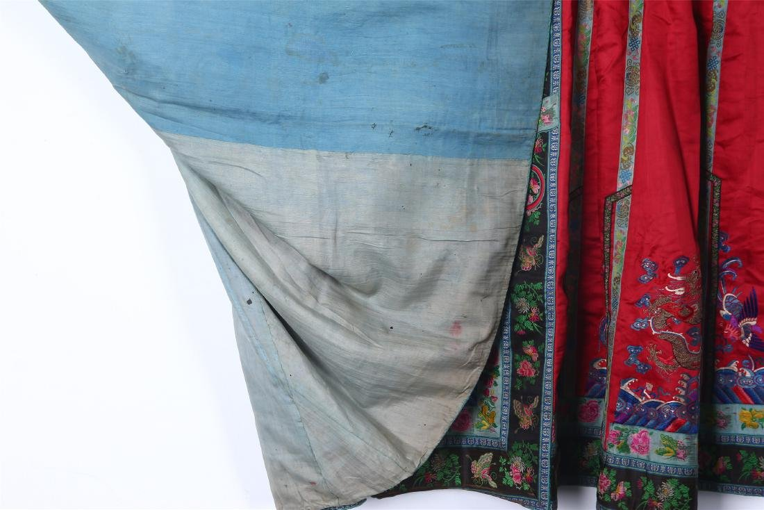 CHINESE EMBROIDERED SILK SKIRT - 6