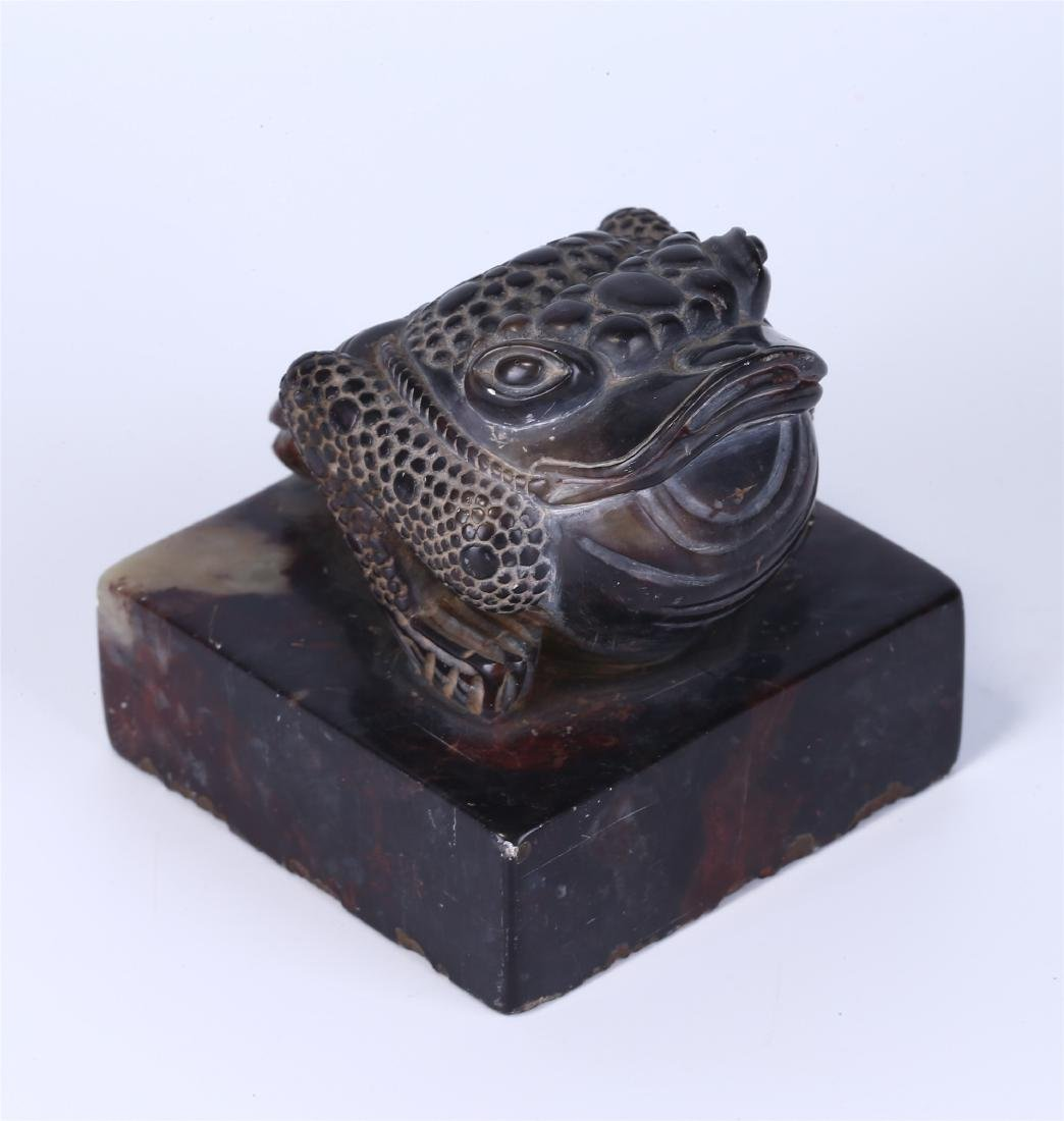 """CHINESE SOAPSTONE """"TOAD"""" SEAL"""
