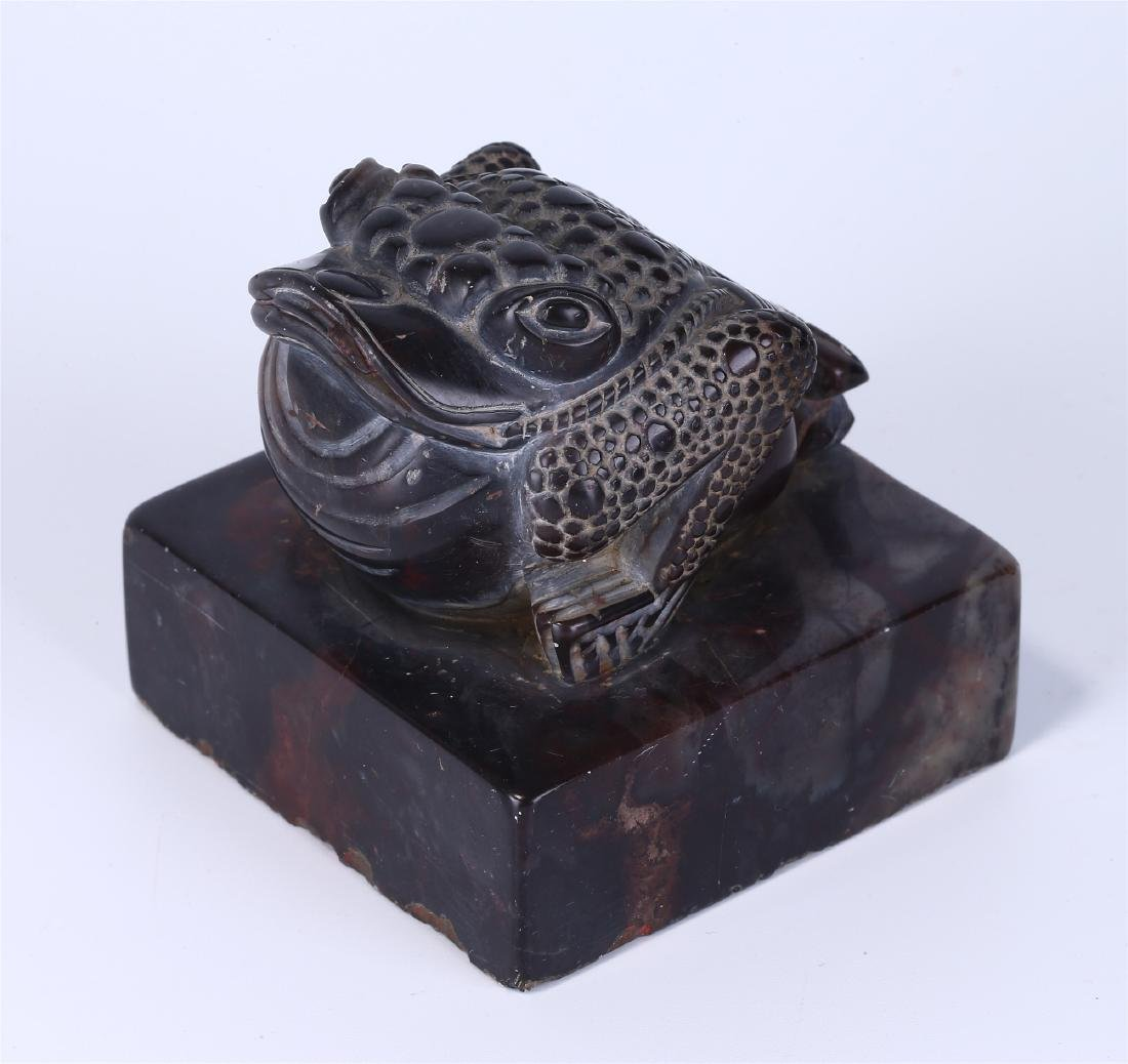 """CHINESE SOAPSTONE """"TOAD"""" SEAL - 2"""