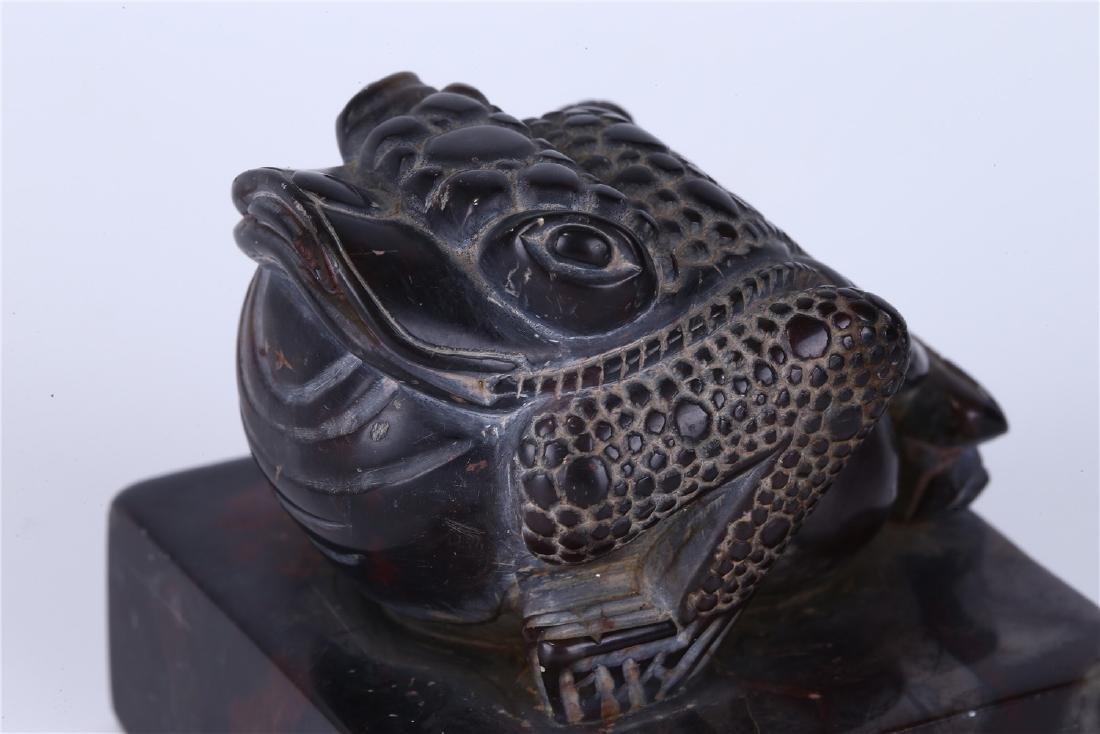 """CHINESE SOAPSTONE """"TOAD"""" SEAL - 4"""