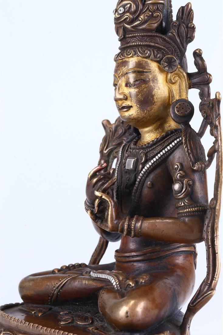 CHINESE BRONZE FIGURE OF GUANYIN - 6