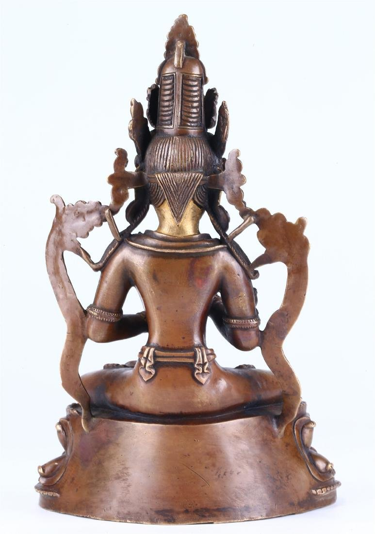 CHINESE BRONZE FIGURE OF GUANYIN - 7