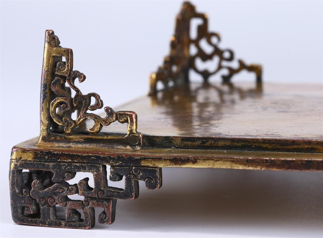 CHINESE GILT BRONZE BOX AND COVER - 8