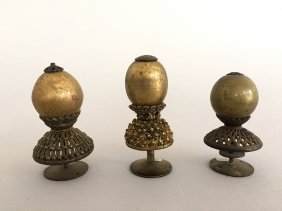 Three Chinese Official's Hat Finials