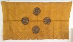 A Chinese Brocade Silk Panel
