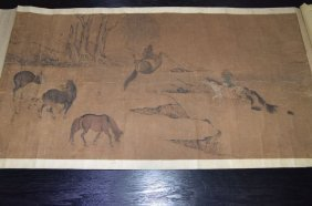 A Chinese Painting, Herding Horses