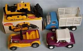 (4) 1960's Small TONKA toys