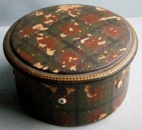 Tartan Ware Cotton Reel Box By Clark Co. From The Early