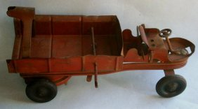 Kingsbury Wind-up Toy Tow Truck With Electric
