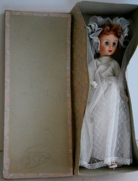 Large 18 In. Bride Doll In Original Box