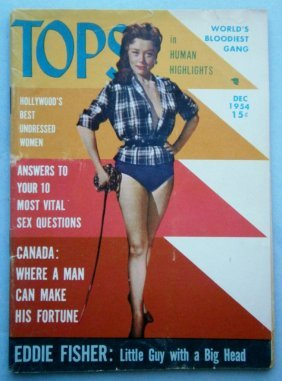 Dec 1954 Tops Magazine With Glossy Cheesecake Covers