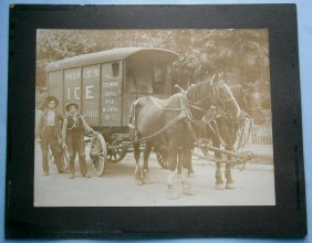 Photo Of Ice Delivery Men For People's Ice & Fuel Co.