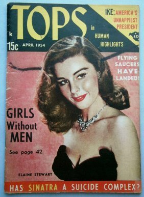 April 1954 Tops Magazine With Glossy Cheesecake Covers