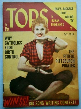 Oct 1954 Tops Magazine With Glossy Cheesecake Covers