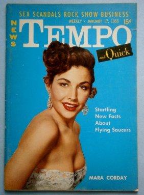 January 1955 Tempo Magazine With Mara Corday