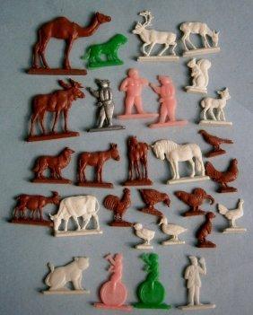 Lot Of Vintage Plastic Figures Mostly Cracker Jack