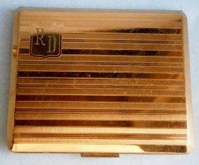 Elgin American Vintage Gold Tone Compact