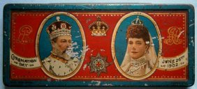 King Edward Vii And Alexandra 1902 Coronation Day Tin