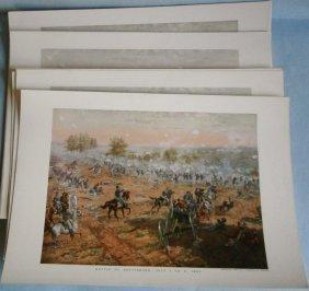 (50) Civil War Prints (battle Of Gettysburg)